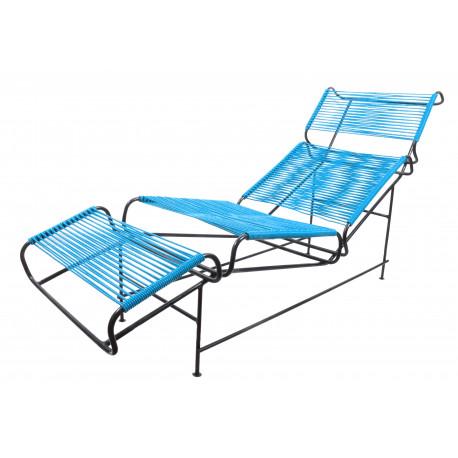 Blau Liege Stuhl Vallarta