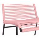 bobina de silla Rosa pastel