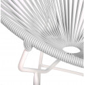 Weis Runde Acapulco weiße Struktur Stuhl detail