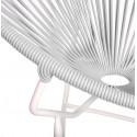 Détail fauteuil Structure Blanche Acapulco rond Blanc