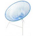 sky blue Huatulco white structure chair