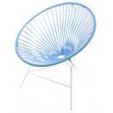 fauteuil Structure Blanche Huatulco Bleu