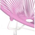 Détail fauteuil Structure Blanche Acapulco rond Rose