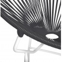 Schwarz Runde Acapulco weiße Struktur Stuhl detail