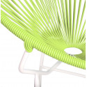 Green Round Acapulco white structure chair detail