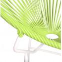Détail fauteuil Structure Blanche Acapulco rond Vert Anis