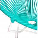 Turquoise Round Acapulco white structure chair detail