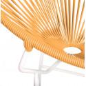 Orange Runde Acapulco weiße Struktur Stuhl detail
