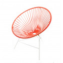 fauteuil Structure Blanche Huatulco Rouge