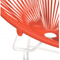Red Round Acapulco white structure chair detail