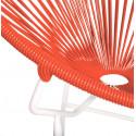 Détail fauteuil Structure Blanche Acapulco rond Rouge