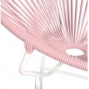Détail fauteuil Structure Blanche Acapulco rond Orange