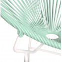 White green Round Acapulco white structure chair detail