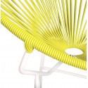 Yellow Round Acapulco white structure chair detail