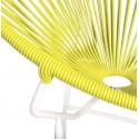 Détail fauteuil Structure Blanche Acapulco rond Jaune