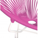 Magenta Round Acapulco white structure chair detail