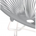 Gray Round Acapulco white structure chair detail