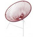 Bordeaux Rot Huatulco weiße Struktur Stuhl