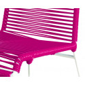 Magenta chair detail and white frame