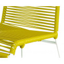 détail structure blanche Chaise Jaune Moutarde