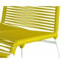 detaille de silla estructura blanca trensada Limon Amarillo