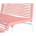 light pink chair detail and white frame
