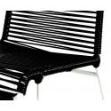 Black chair detail and white frame
