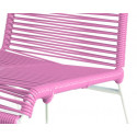 Pink chair detail and white frame