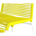 Yellow chair detail and white frame