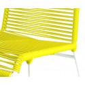 detaille de silla estructura blanca trensada Amarillo