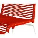 detaille de silla estructura blanca trensada Rojo