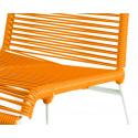 orange chair detail and white frame