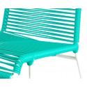 silla estructura blanca de comedor Turquesa