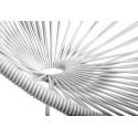 détail fauteuil structure blanche rocking chair Acapulco Blanc