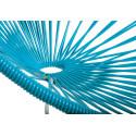 détail fauteuil structure blanche rocking chair Acapulco Bleu