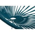 Blaue Ente Acapulco schaukelstuhl und weiss struktur Detail