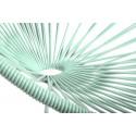 LindGrün Acapulco schaukelstuhl und weiss struktur Detail