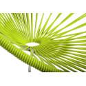 détail fauteuil structure blanche rocking chair Acapulco Vert Anis
