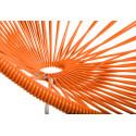 Orange Acapulco schaukelstuhl und weiss struktur detail