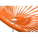 détail fauteuil structure blanche rocking chair Acapulco Orange