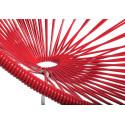 Rot Acapulco schaukelstuhl und weiss struktur detail