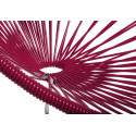 Bordeaux Rot Acapulco schaukelstuhl und weiss struktur detail