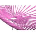 Rosa Acapulco schaukelstuhl und weiss struktur detail