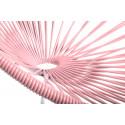 Pastel Rosa Acapulco schaukelstuhl und weiss struktur Detail