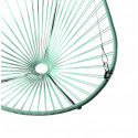 Details of mint green Acapulco hanging chair