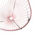 Details of rosa quartz Acapulco hanging chair