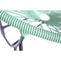 detail Fauteuil Tulum vert d'eau