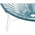 detalle de estructura blanca Tulum Azul oceano