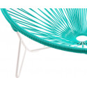 détail fauteuil structure blanche détail fauteuil structure blanche Fauteuil Tulum Vert Turquoise