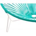 detalle de silla de estructura blanca Tulum Turquesa